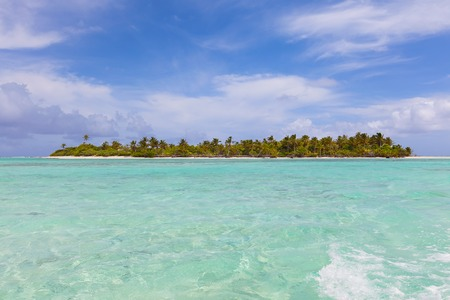 view at picture perfect island, aitutaki, cook islands photo