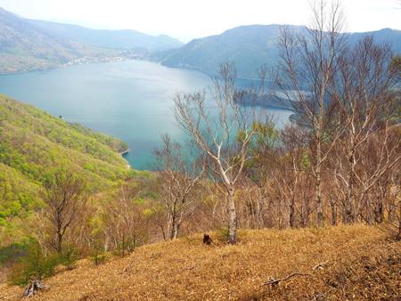 View of Lake Chuzenji from the mountain ridge