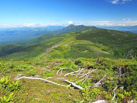 view of the Mt.Tateshina area from the Mt.Tengudake Banco de Imagens