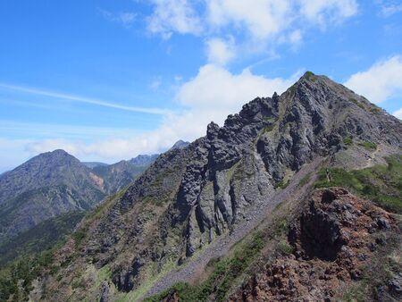 west peak of mt.gongendake Banco de Imagens