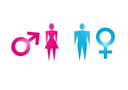 male and female  イラスト・ベクター素材