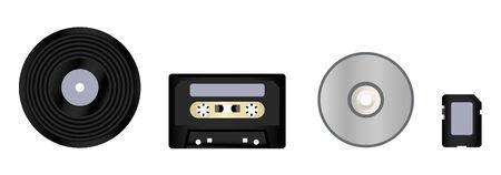 evolution of formats for storing music Stock Vector - 5368726