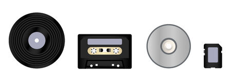 size distribution: evolution of formats for storing music