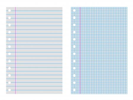 twee notebook van papier een plaid en een krijtstreep