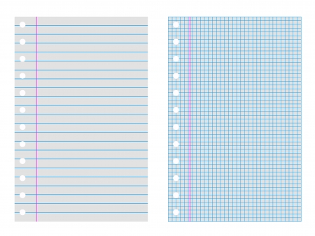 two notebook of paper a plaid and a pinstripe Vector