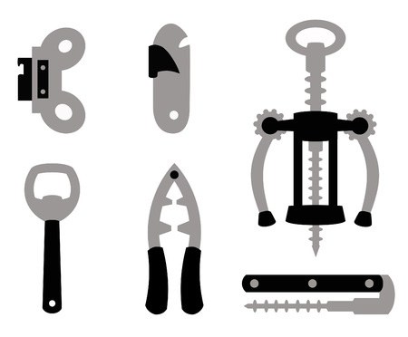 different objects to open other objects in black and gray