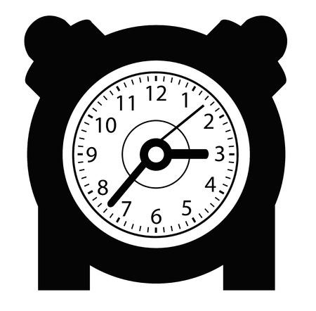 get up: round clock set in black