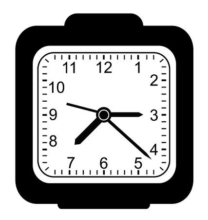 classic clock set in black Stock Vector - 5822316