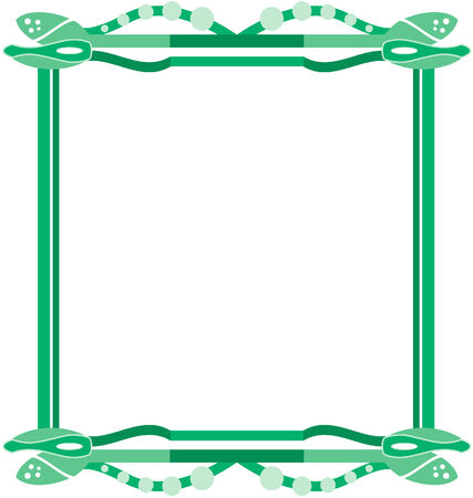 context: abstract framework in different shades of green