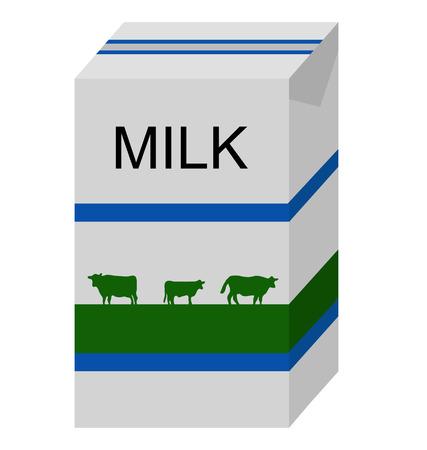 carton de leche: cart�n de leche creado con vectores