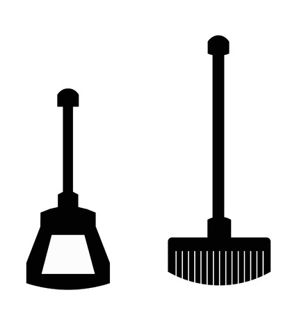 dust pan: brush and dustpan to clean