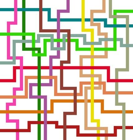 dise�os: Dise�o art�stico con la intersecci�n de las l�neas geom�tricas de varios colores.