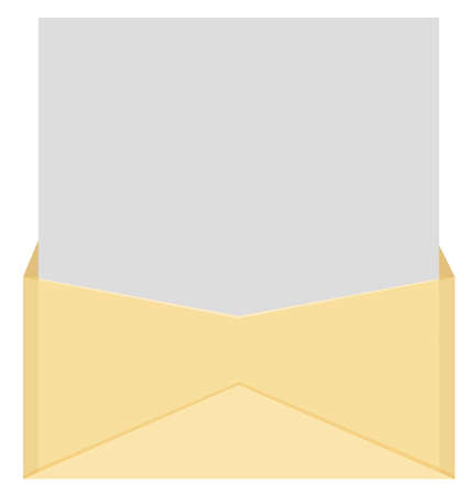 An envelope and a letter.  Vector