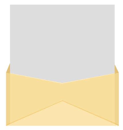 An envelope and a letter.  Illustration
