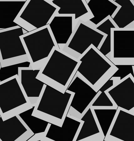 Een achtergrond van lege instant foto frames. Stock Illustratie