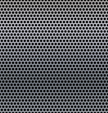 A metal background with holes.  Vector