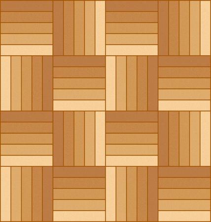 Vectorillustratie van een houten parket vloer patroon.