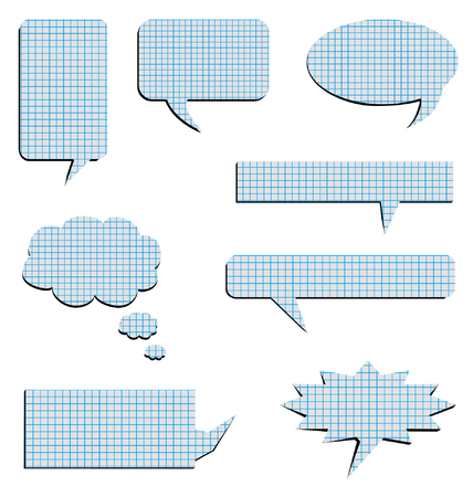 collection of eight posts to put Bubblewith the appearance of graph paper
