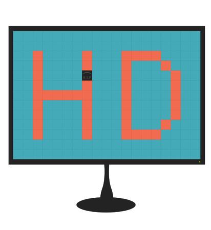 elvonult: illusztráció egy monitor egy halott pixel Illusztráció