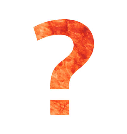 tagline: Question mark letter with texura shaped brown earth or stone