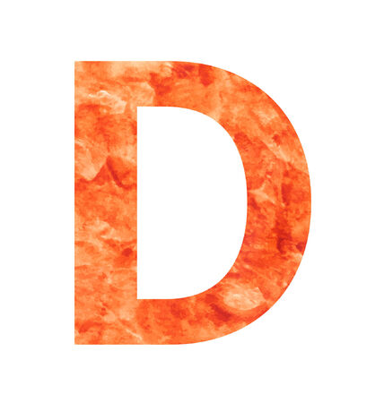 tagline: d letter with texura shaped brown earth or stone