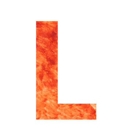 l letter with texura shaped brown earth or stone Vector