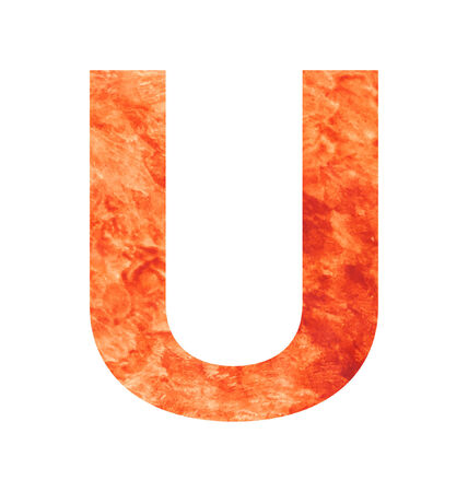 tagline: u letter with texura shaped brown earth or stone
