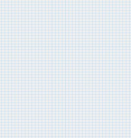 illustratie textuur wit vel papier met blauwe vierkantjes