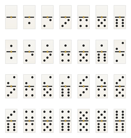 illustration with set all the dominoes