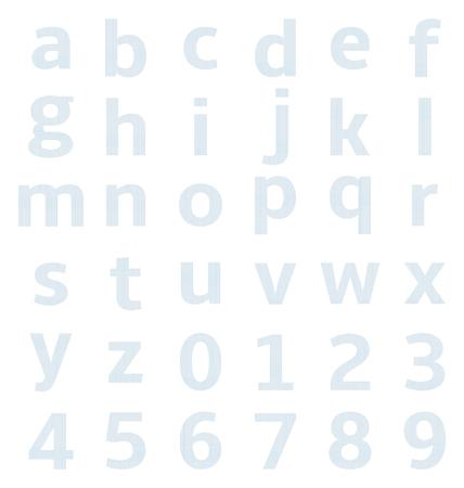 hoja cuadriculada: alfabeto en min�sculas con papel cuadriculado