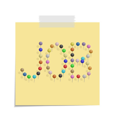 design of a post with push pins forming the word art  Vector