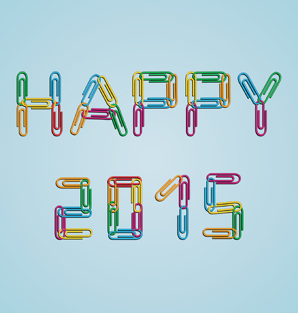 malleable: design a background with the date happy 2015 created with clips