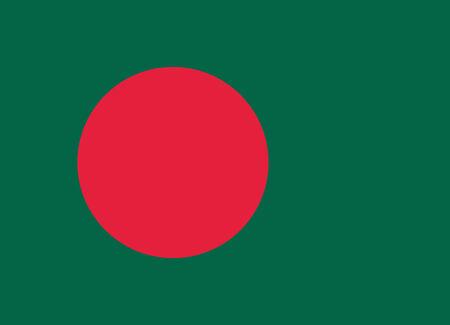 Flag of Bangladesh vector illustration Vector