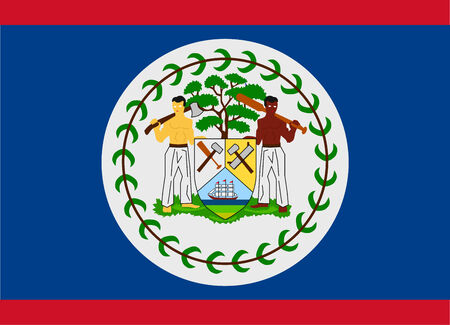 Flag of Belize vector illustration Vector