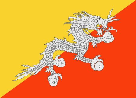 bhutan: Flag of Bhutan vector illustration