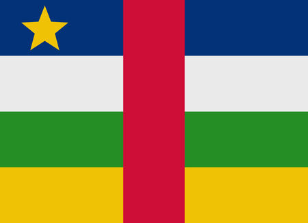 central african republic: Flag of Central African Republic vector illustration