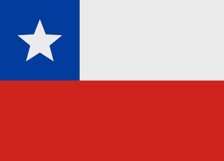 bandera de chile: Bandera de Chile ilustración vectorial