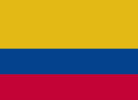 bandera de colombia: Bandera de Colombia ilustración vectorial