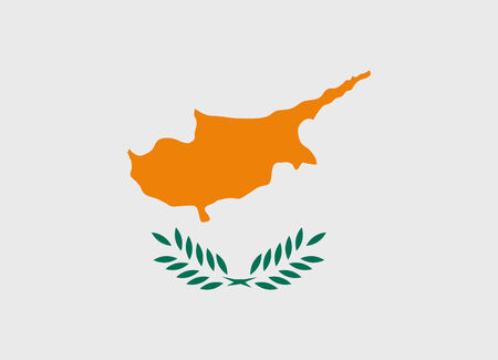 cyprus: Flag of Cyprus vector illustration