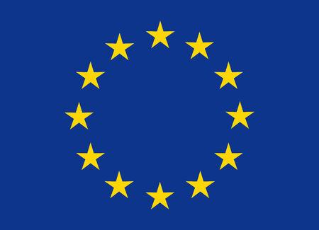 Flag of European Union vector illustration
