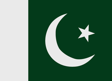 Flag of Pakistan vector illustration Vector