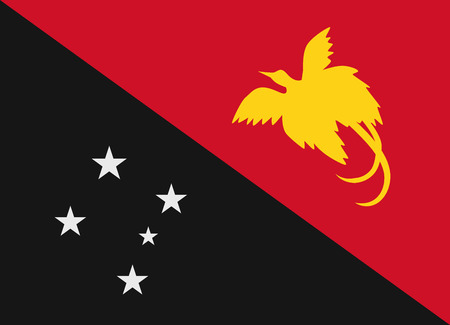 papouasie: Drapeau de la Papouasie-Nouvelle-Guin�e illustration vectorielle Illustration