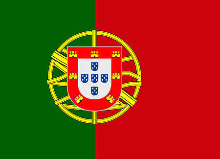 Flag of Portugal vector illustration Vector