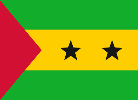 tome: Flag of Sao Tome and Principe vector illustration Illustration