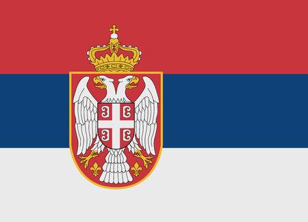 serbien: Flagge von Serbien Vektor-Illustration