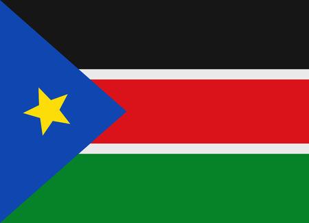 south sudan: Flag of South Sudan vector illustration Illustration