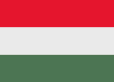 hungary: Flag of Hungary vector illustration