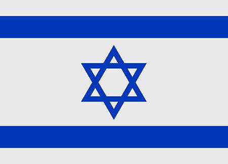 Flag of Israel vector illustration Vettoriali