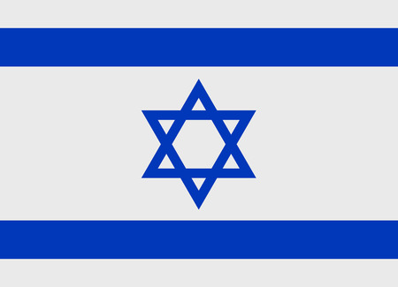 Flag of Israel vector illustration Иллюстрация