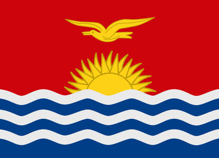 kiribati: Flag of Kiribati vector illustration